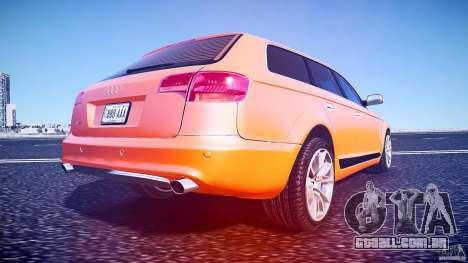 Audi A6 Allroad Quattro 2007 wheel 2 para GTA 4 vista inferior