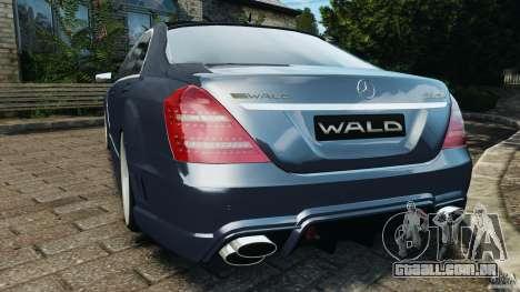 Mercedes-Benz S W221 Wald Black Bison Edition para GTA 4 traseira esquerda vista
