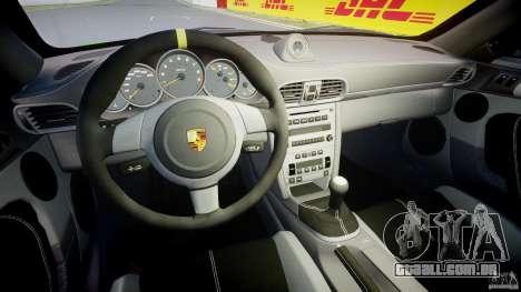 Porsche 997 GT3 RS para GTA 4 vista de volta
