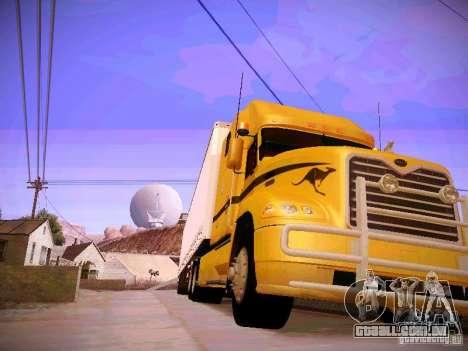 Mack Vision para GTA San Andreas vista traseira