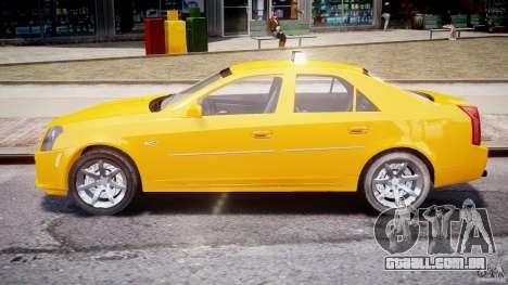 Cadillac CTS Taxi para GTA 4 vista interior