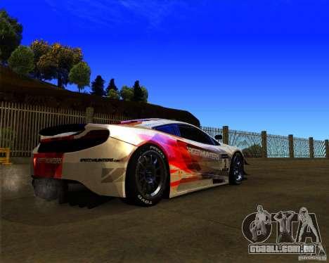McLaren MP4 - SpeedHunters Edition para GTA San Andreas vista direita