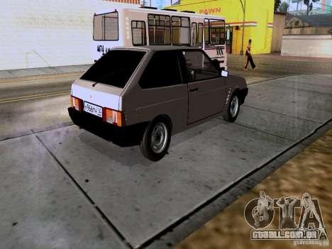 Dreno VAZ 2108 para GTA San Andreas traseira esquerda vista