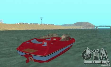 Speedboat para GTA San Andreas esquerda vista