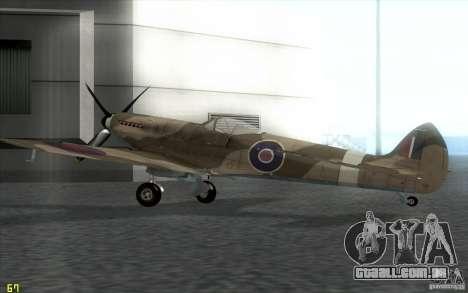 Spitfire para GTA San Andreas esquerda vista