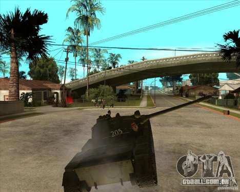 T-55 para GTA San Andreas vista interior
