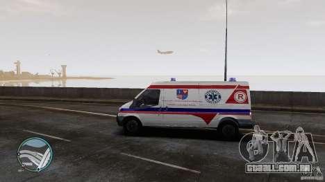 Ford Transit Ambulance para GTA 4 traseira esquerda vista
