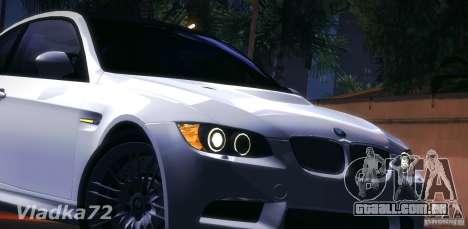 BMW E92 v2 Updated para GTA San Andreas vista interior