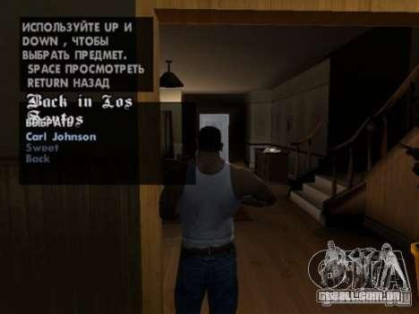 Repetir qualquer missão para GTA San Andreas segunda tela