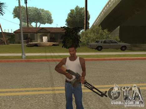 Light Machine Gun Dâgterëva para GTA San Andreas por diante tela