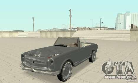 Mercedes-Benz 280SL (Matt) para vista lateral GTA San Andreas