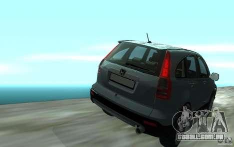 Honda CR-V para GTA San Andreas vista direita