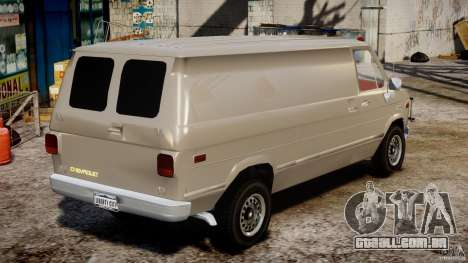 Chevrolet G20 Vans V1.1 para GTA 4 vista interior