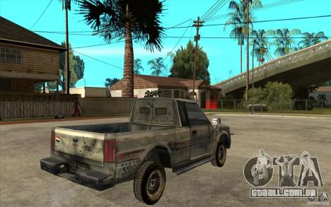 Rusty Mazda Pickup para GTA San Andreas vista direita