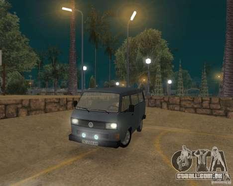 Volkswagen Transporter T3 para GTA San Andreas esquerda vista