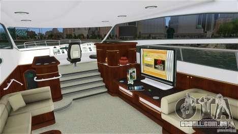 Luxury Yacht para GTA 4 esquerda vista