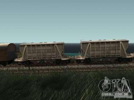 Tremonha de cimento para GTA San Andreas esquerda vista