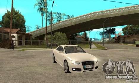 Audi S5 2008 para GTA San Andreas vista traseira