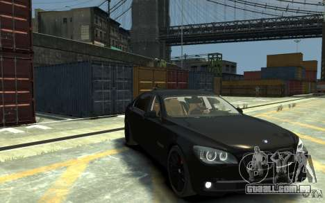 BMW ActiveHybrid 7 2010 para GTA 4 vista de volta