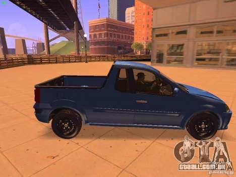 Nissan NP200 para GTA San Andreas traseira esquerda vista