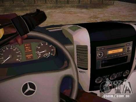 Mercedes Benz Sprinter Ambulance para GTA San Andreas vista interior