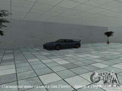 Trabalho showroom em San Fierro v1 para GTA San Andreas segunda tela