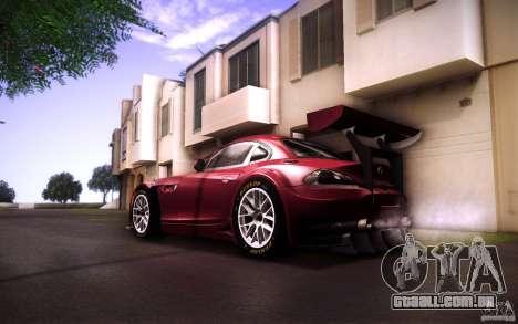 BMW Z4 E89 GT3 2010 para vista lateral GTA San Andreas