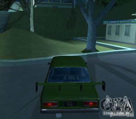 Vaz 2107 permite para GTA San Andreas vista direita