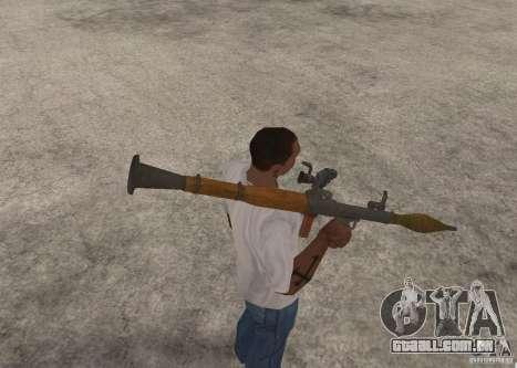 O RPG-7 para GTA San Andreas por diante tela