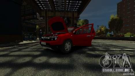 Dacia Duster SUV 4x4 2010 para GTA 4 vista inferior