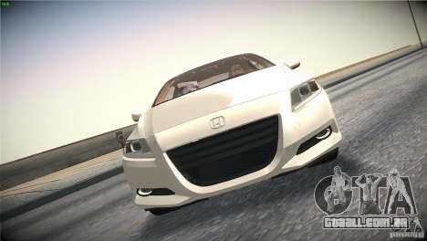 Honda CR-Z 2010 V1.0 para GTA San Andreas vista superior