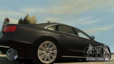 Audi A8 V8 FSI para GTA 4 vista superior