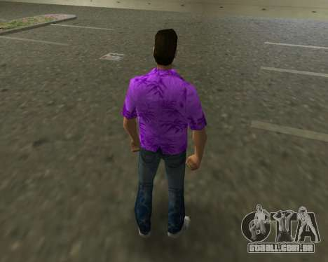 Camisa violeta para GTA Vice City