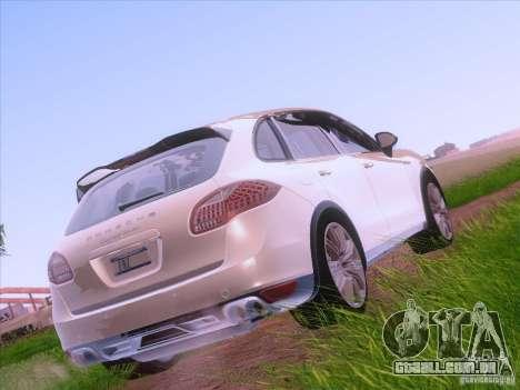 Porsche Cayenne Turbo 958 2011 V2.0 para GTA San Andreas traseira esquerda vista
