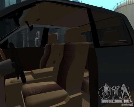 Dodge Ram Hemi para GTA San Andreas vista interior