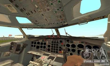 Boeing 727-100 American Airlines para GTA San Andreas traseira esquerda vista