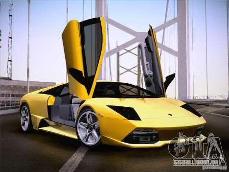 Lamborghini Murcielago LP640 para GTA San Andreas traseira esquerda vista