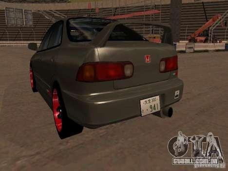 Honda Integra TypeR para GTA San Andreas vista traseira