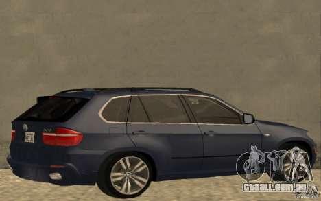 BMW X5 M 2009 para GTA San Andreas traseira esquerda vista