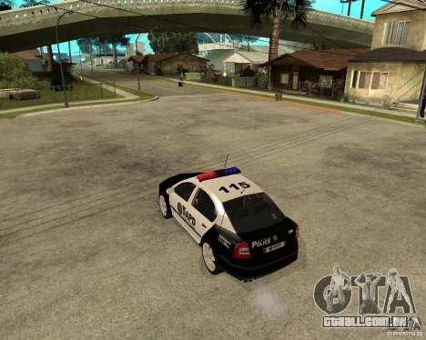 Skoda Octavia II 2005 SAPD POLICE para GTA San Andreas traseira esquerda vista
