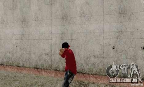 Substituto de pele Bmyst para GTA San Andreas por diante tela