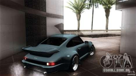 Porsche 911 Turbo RWB DS para GTA San Andreas traseira esquerda vista