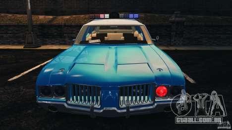 Oldsmobile Vista Cruiser 1972 Police v1.0 [ELS] para GTA 4 motor