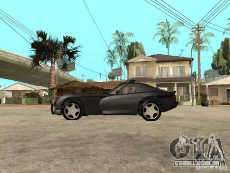 Dodge Viper Police para GTA San Andreas esquerda vista