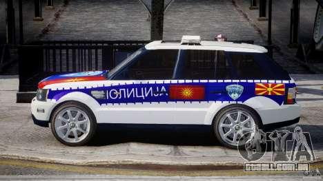 Range Rover Macedonian Police [ELS] para GTA 4 esquerda vista