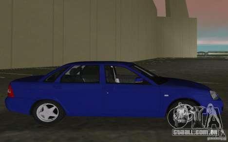 Lada 2170 Priora para GTA Vice City vista direita