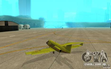 Shamal 1.0 Final para GTA San Andreas vista direita