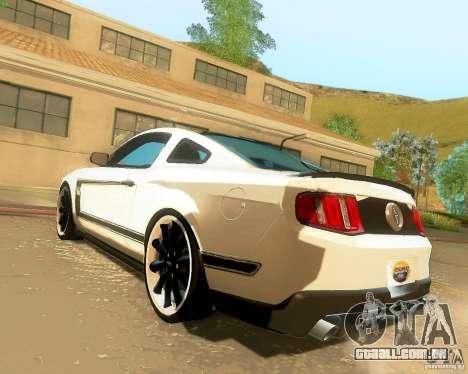 Ford Mustang Boss 302 2011 para GTA San Andreas esquerda vista