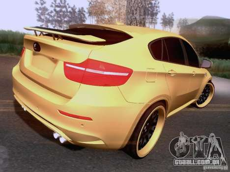 BMW X6M Hamann para GTA San Andreas vista interior