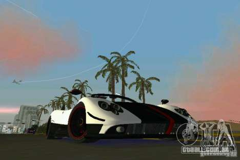 Pagani Zonda Cinque Roadster 2010 para GTA Vice City